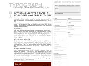 Wordpress模板typograph的截图