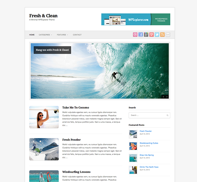 fresh-clean-wordpress-theme